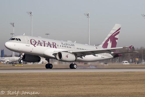 A7-MBK Airbus A320CJ Qatar Amiri Flight Munich airport EDDM 17.02-19 | by rjonsen