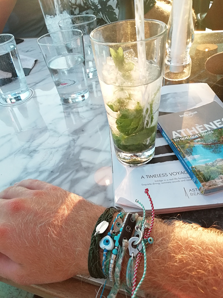 mojito et bracelets grecs