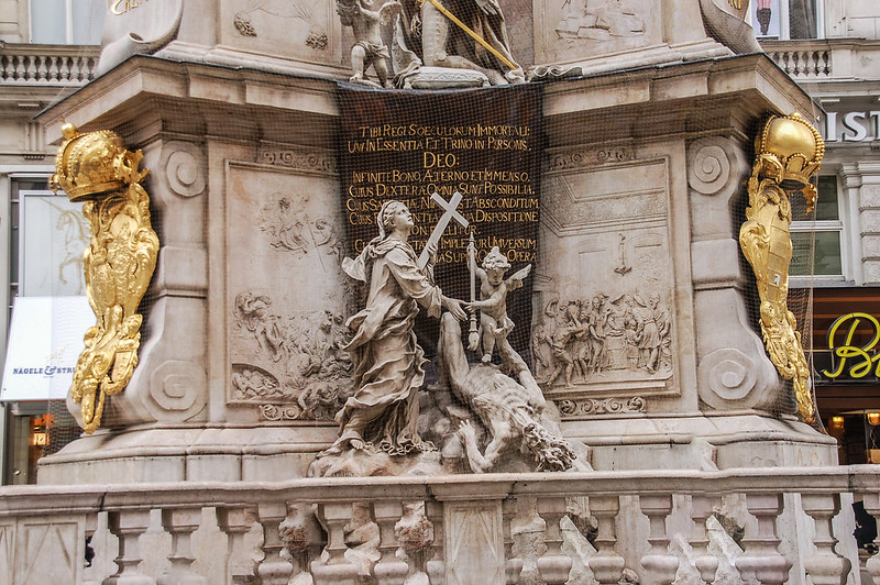 黑死病紀念柱(Plague column, Vienna) 5
