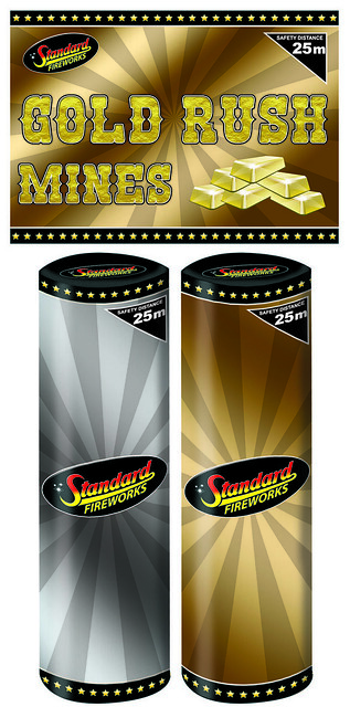 Gold Rush Firework Mines by Standard Fireworks