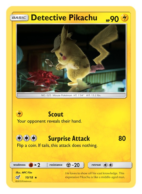 Pokémon TCG Detective Pikachu_Detective Pikachu