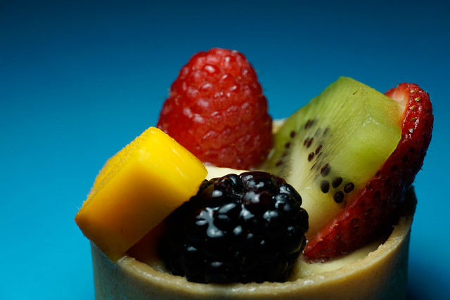Mini Puff Pastry with Fruit Medley