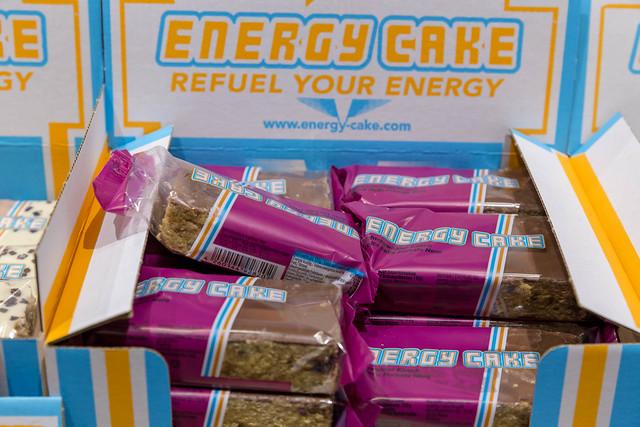 Energy Cake mit Schwarzwälder Kirsch Geschmack um Energie zu tanken auf der Fibo in Köln