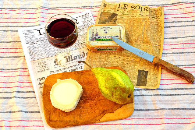 Literatur und Kulinarik: Jonathan Noels Abendessen ... Zitat aus: Die Taube von P. Süskind --- Nachempfunden und fotografiert von Brigitte Stolle