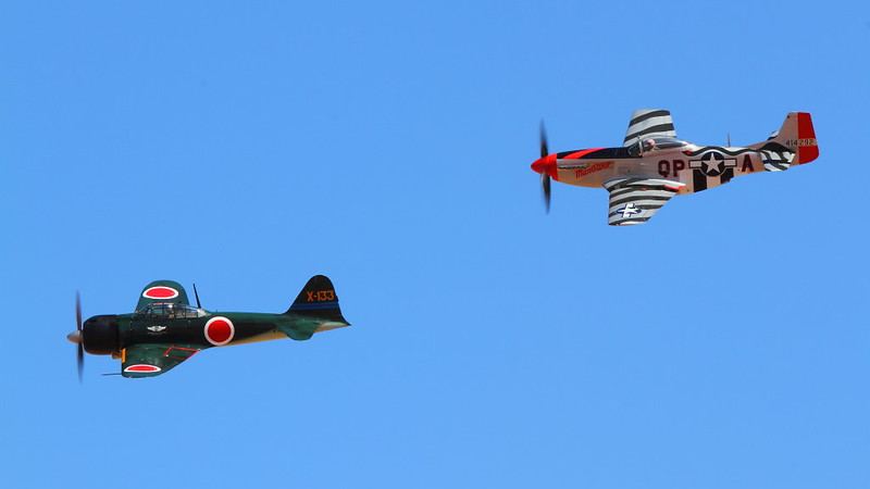 IMG_8919 P-51 and Zero, NAF El Centro Air Show