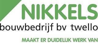Nikkels Logo bouwbedrijf, met maakt er duidelijk werk van