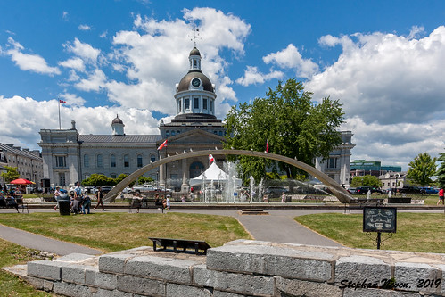 town kingston townhall canada ontario waterfront cloud sky landscape military tree limstone city