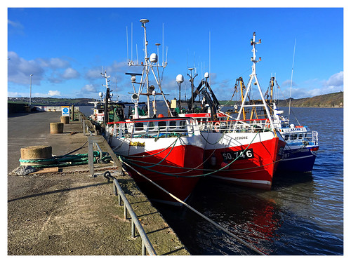 duncannon trawler fishingboat sea bluesky wexford ireland irish seascape boat water view port harbour alize jeddie mellifont tragedy