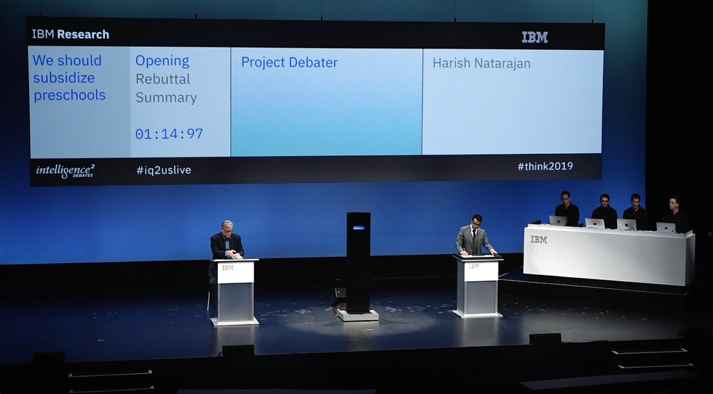 IBM Project Debater enriches audience knowledge at live de