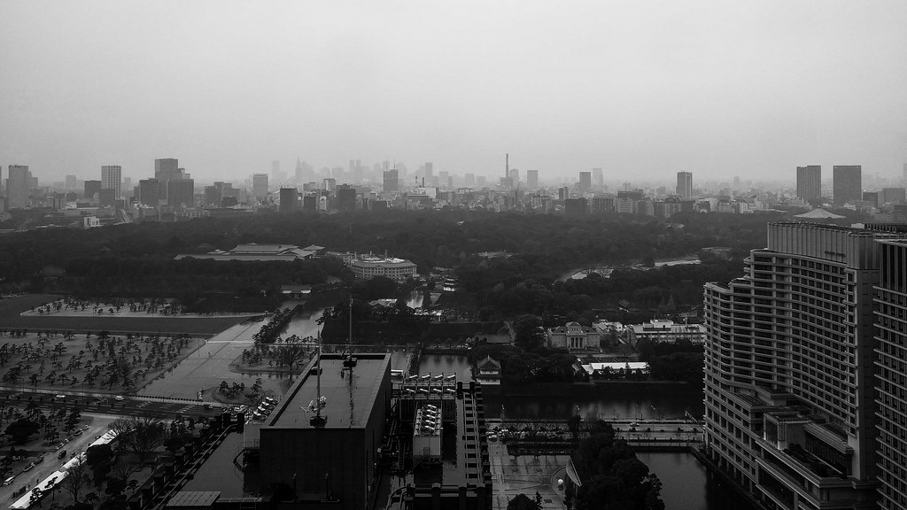 Imperial Palace on a grey day