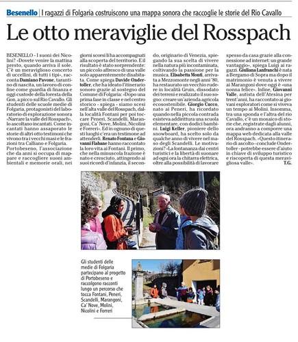 quotidiano l'Adige 4 aprile 2018 | by PORTOBESENO