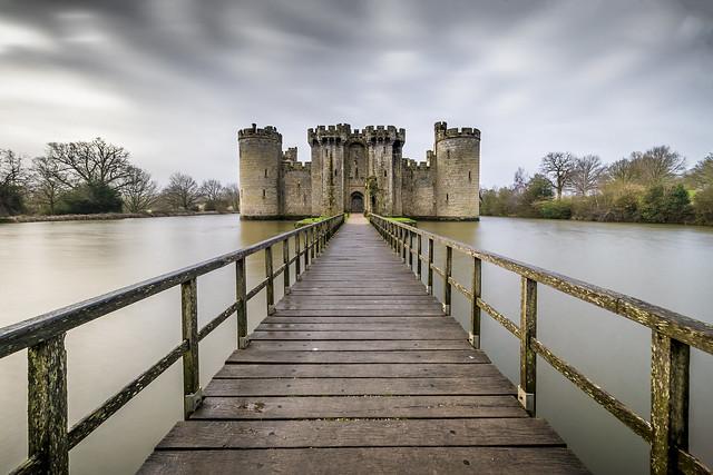 A stormy Bodiam Castle!