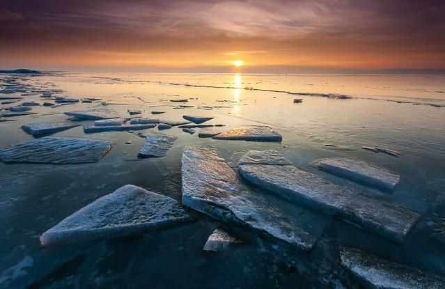 Utah Lake sunset