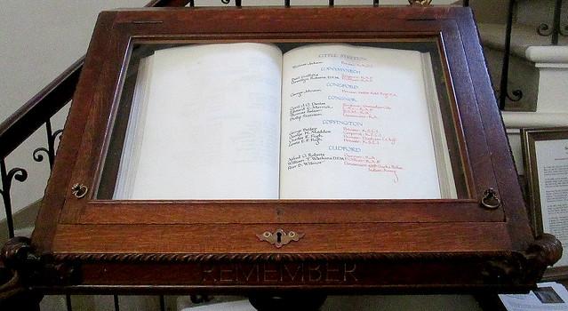 Roll of Honour, Shropshire Towns, St Chad's, Shrewsbury