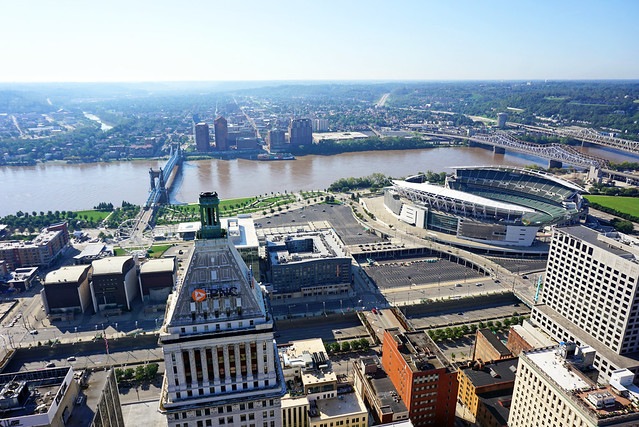 View from Carew Tower, Cincinnati, OH