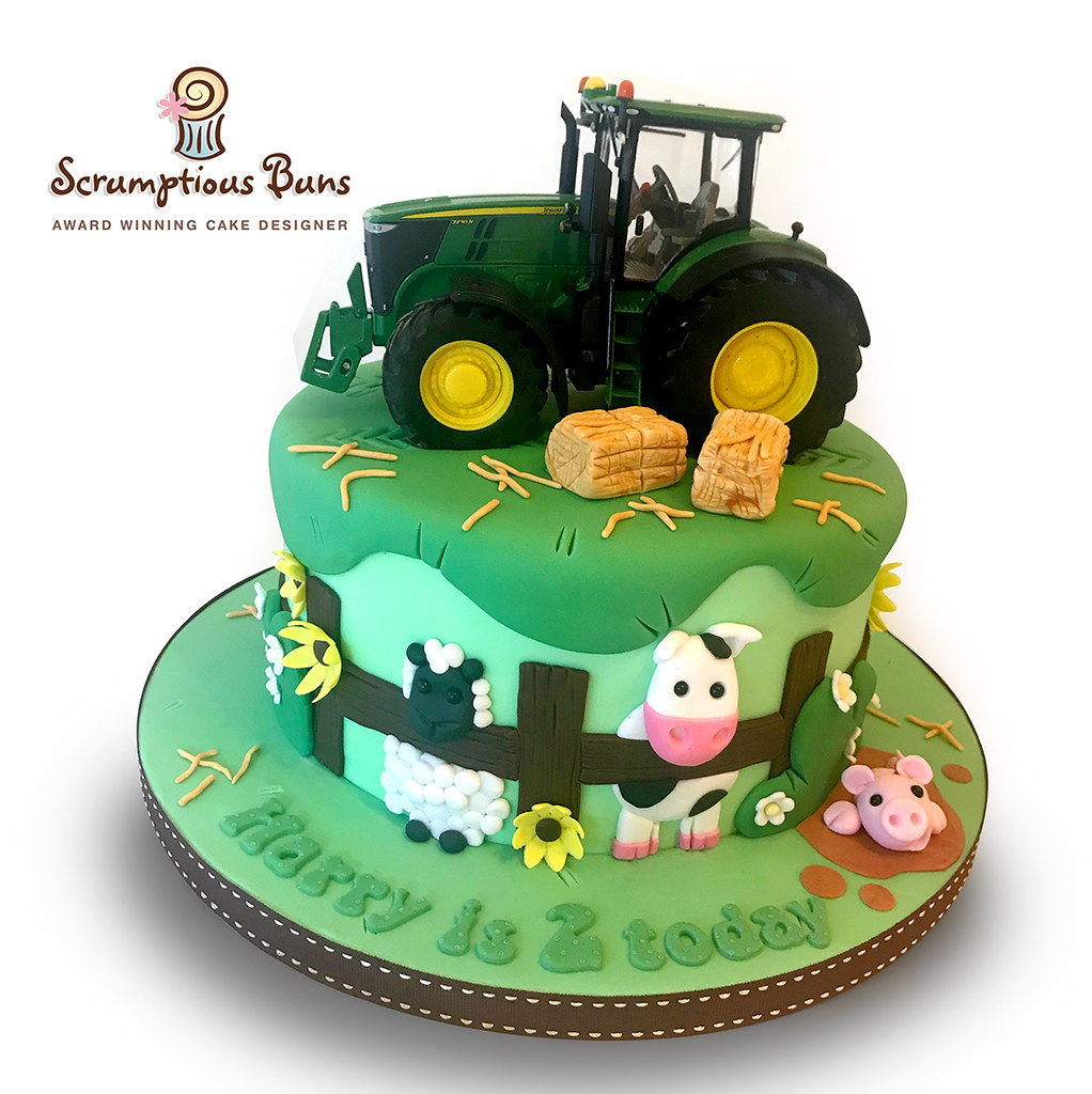 Peachy On The Farm Birthday Cake Its A Lovely Day On The Farm T Flickr Birthday Cards Printable Opercafe Filternl