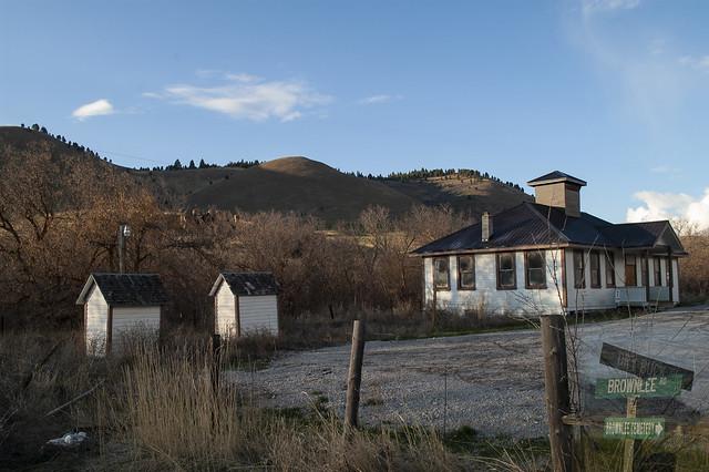 Old Idaho School - Brownlee located on Dry Buck Road