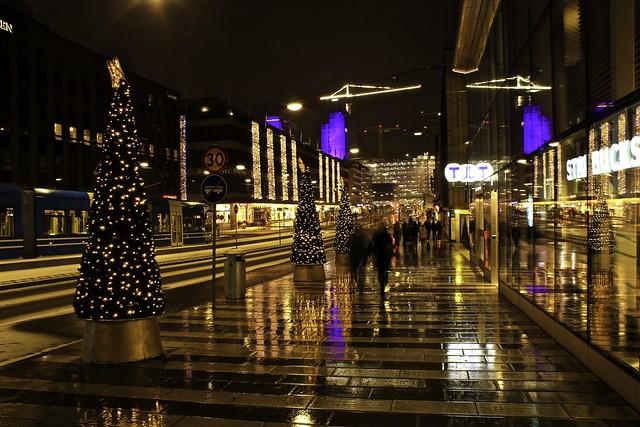 Christmas lights in Stockholm
