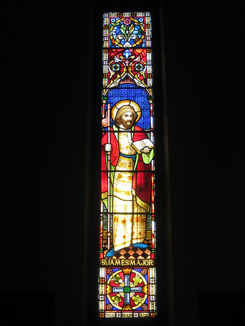 The Saint James the Major Stained Glass Window by Ferguson and Urie; Christ Church, Brunswick - Glenlyon Road, Brunswick