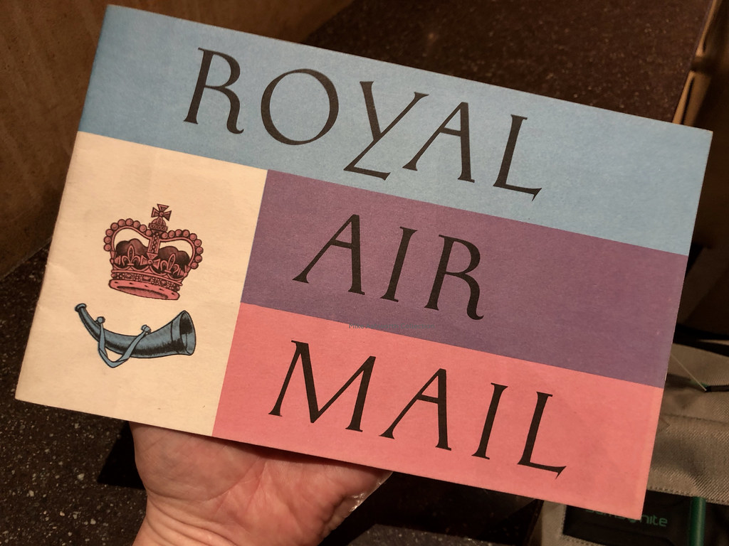 Royal Air Mail Gpo Booklet 1964 Designed By London Typo
