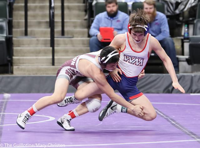 113AA 5th Place Match - Austin Gabbert (Watertown Mayer-Mayer Luth.) 36-3 won by major decision over Yim-Leej Yang (St Paul Johnson) 38-9 (MD 12-4). 190302BMC3600