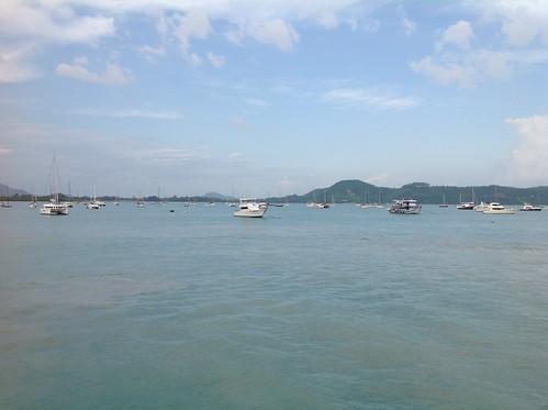 тайланд thailand sky sea boat water bay city ocean mountain landscape cloud
