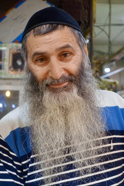 Yakov, vegetable merchant, Shuk HaTalpiot, Haifa