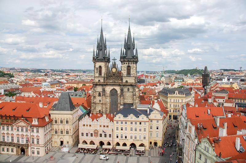 泰恩教堂(From布拉格天文鐘鐘樓頂) 2
