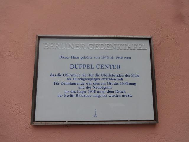 2012 Berlin Berliner Gedenktafel Düppel-Center der UN-Flüchtlingsorganisation UNRRA für Displaced Persons 1946-1948 Potsdamer Chaussee 87 in 14129 Nikolassee