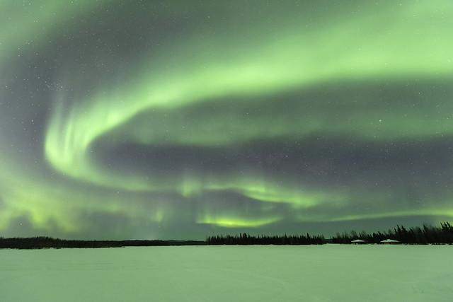Aurora borealis at Chena Lakes in Alaska
