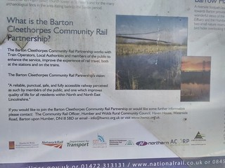 The Barton Cleethorpes Community Rail Partnership.