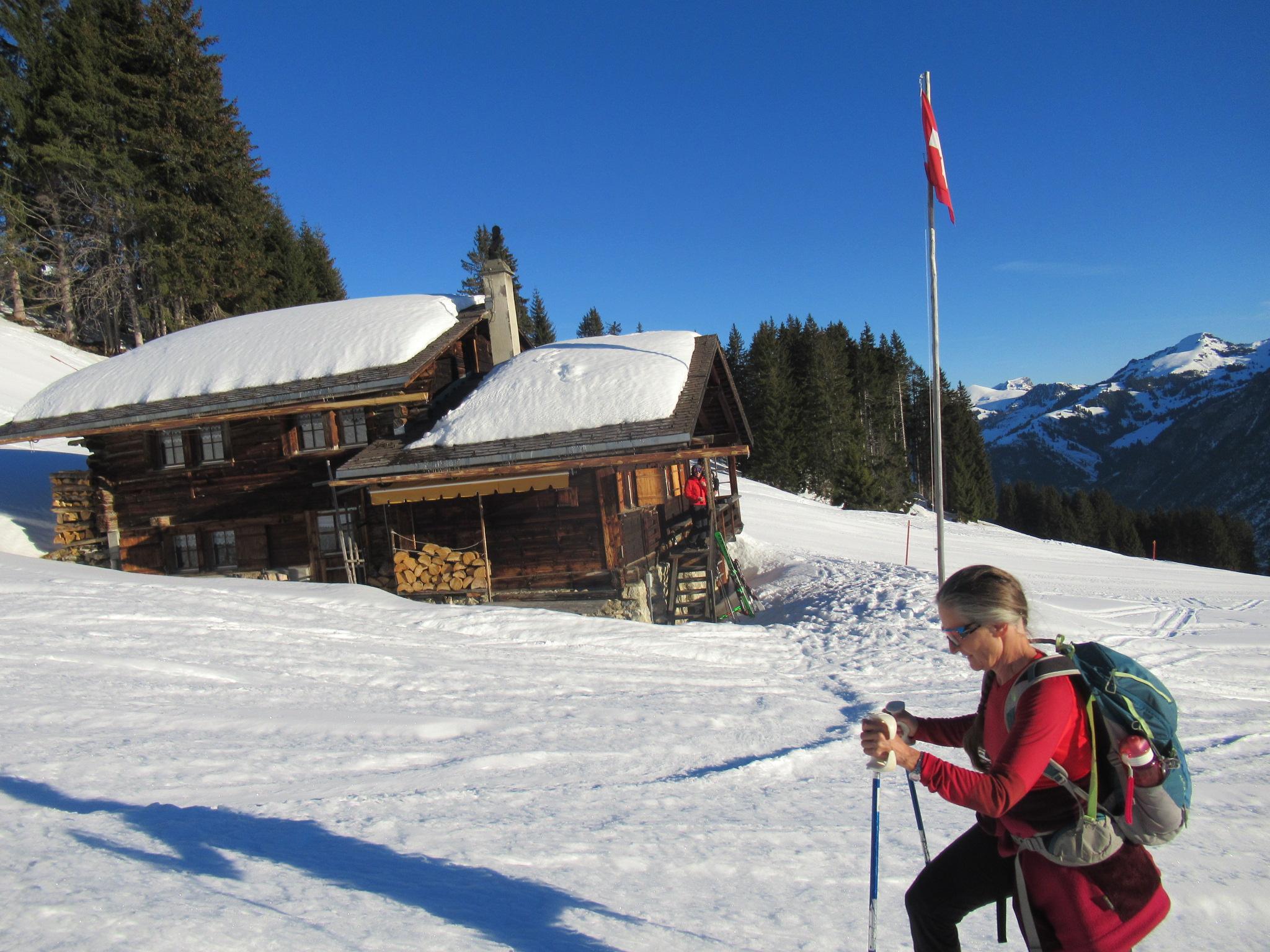 Hüttliweekend und Schneeschuhtour Amsleregrat 17.02.2019