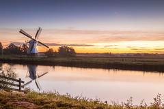 dutch windmill sunrise
