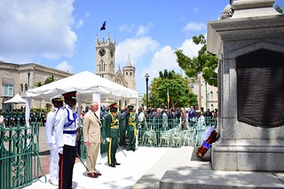 Wreath laying ceremony at the Cenotaph (5) | by barbadosgovernmentinformationservice
