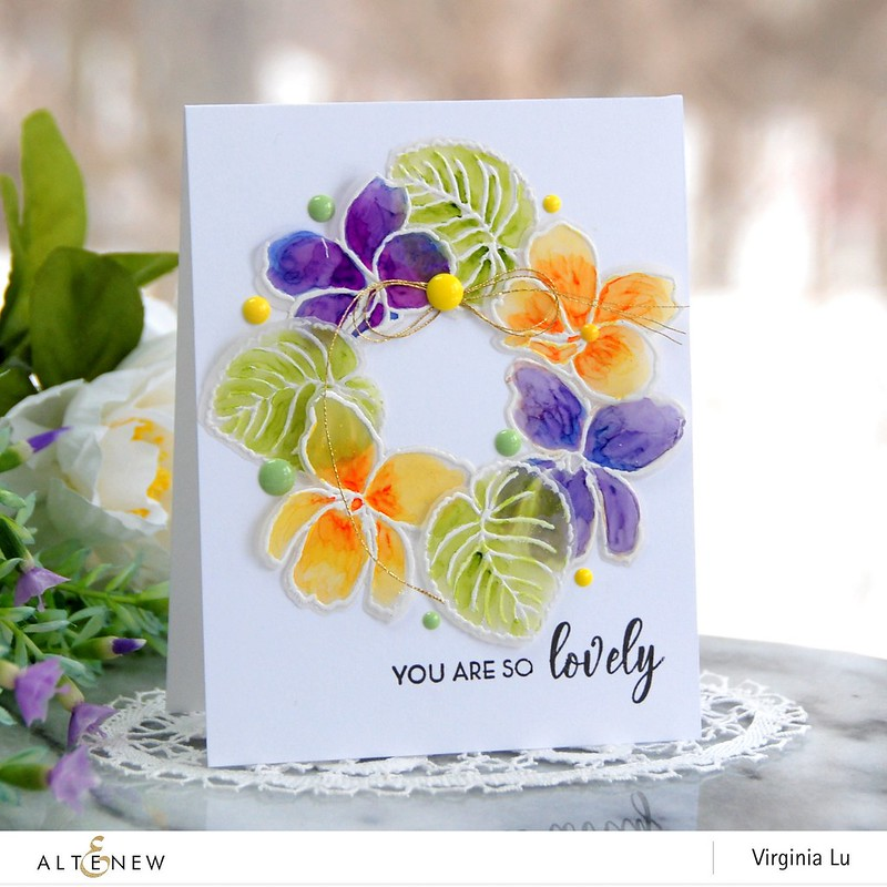 Altenew-BAF Sweet Violet-Virginia#1