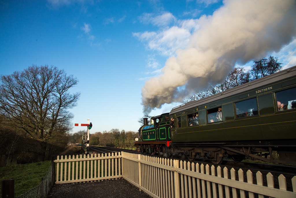 Locomotive 263 Departing Sheffield Park Station 4