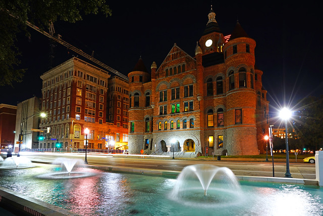 Dallas by night. Old Red Museum