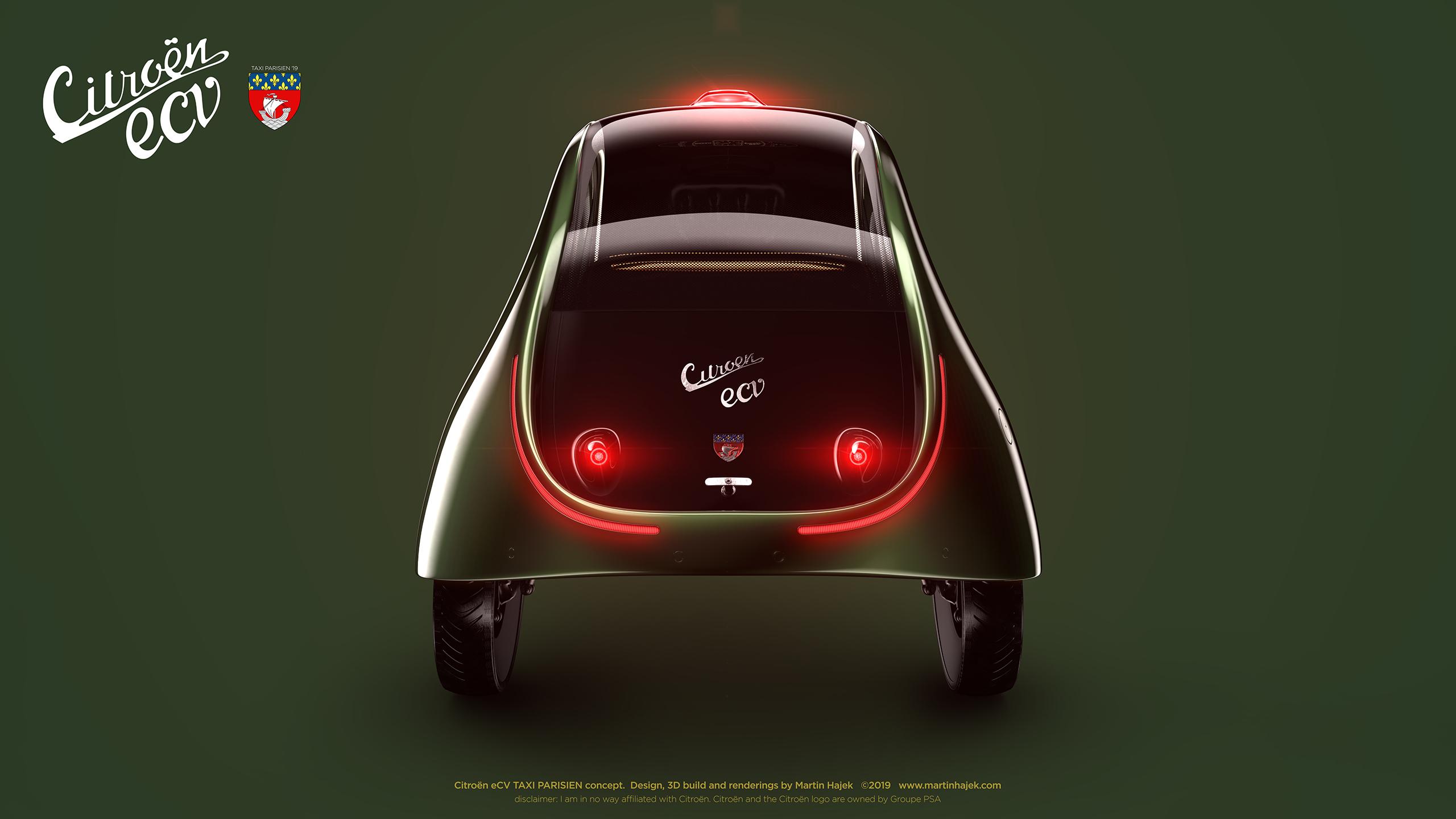 Citroen eCV TAXI PARISIEN concept