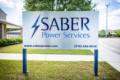 Saber Power-brushed dibond-3 | by Signs of San Antonio