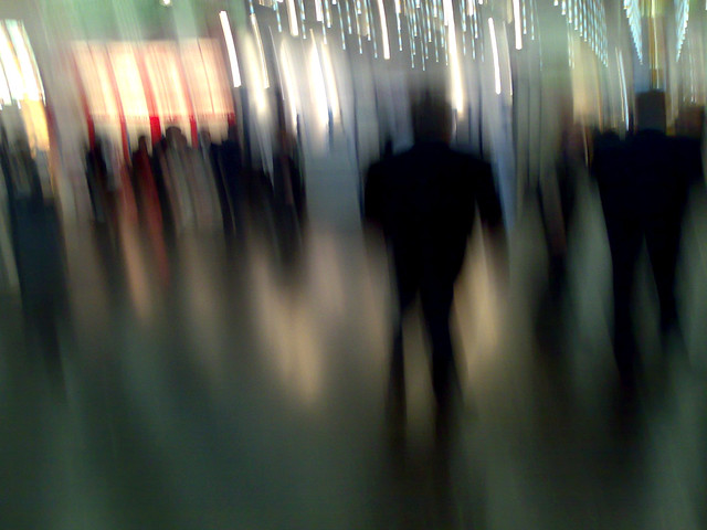 Messe, Anonymitaet und Hektik / Exhibition, anonymity and hustle and bustle