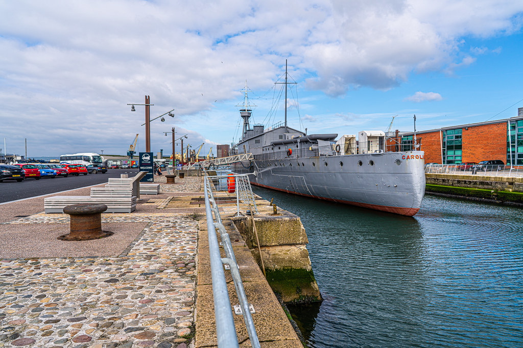 THE HMS CAROLINE ENTERED SERVICE IN 1914 AND NOW IT IS A FLOATING MUSEUM IN BELFAST 005