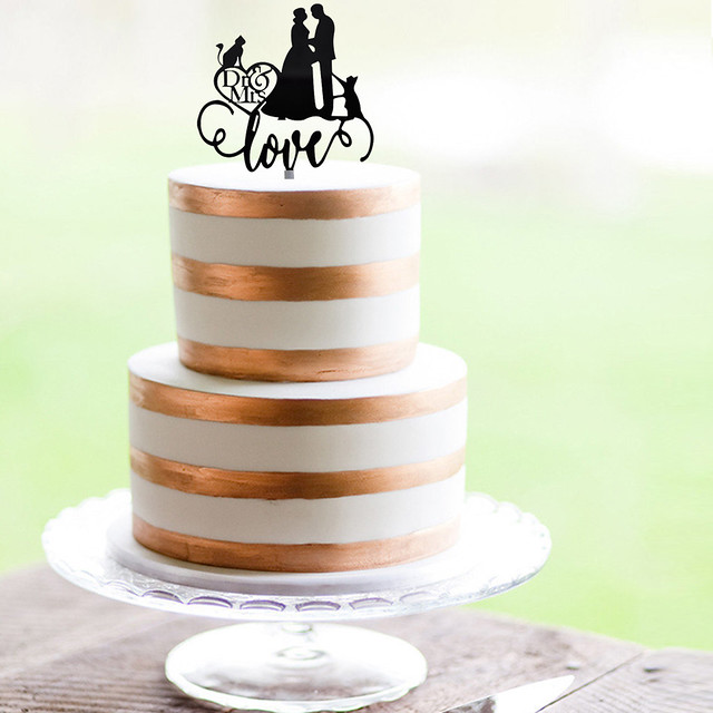 Couple and Cats Cake Topper