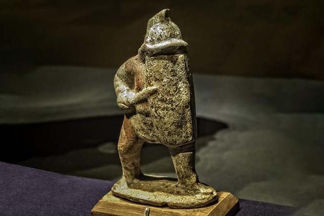 Gladiator Oplomachus figurine from House of Marcus Lucretius Fronto Pompeii 1st century CE 720X480