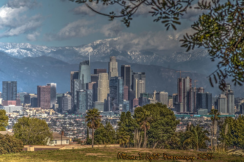 losangeles skyline skyscrapers california southerncalifornia architecture buildings clouds cloudscapes sky kennethhahnstaterecreationarea