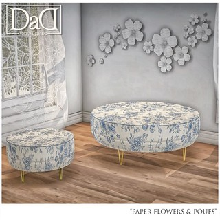 Paper Flowers & Poufs - Exclusive @ Boom | by Sheerpetal Roussel - DaD - virtual living -