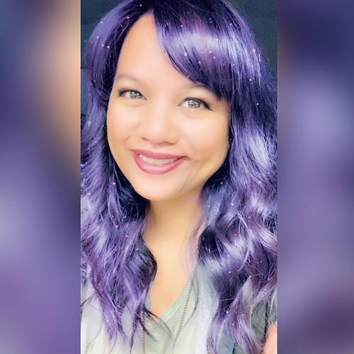 me with purple hair | by walelia