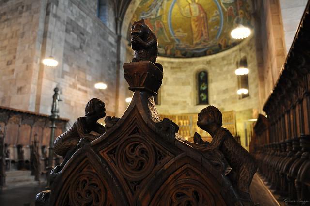 The Gothic choir stalls (detail)