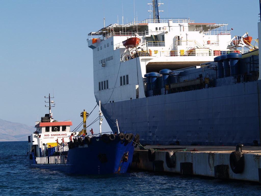 RoRo vessel 'Ulusoy 7' and fuel tanker 'Akintürk', Çeşme, … | Flickr
