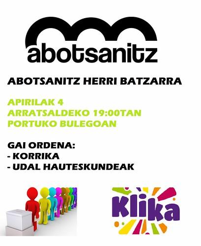 Cartel Asamblea Abotsanitz, Hondarribia