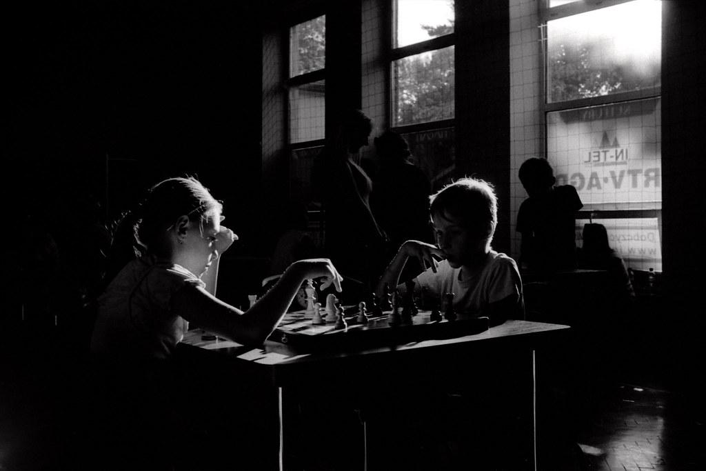 Sylwetki szachistów / Chess players silhouettes